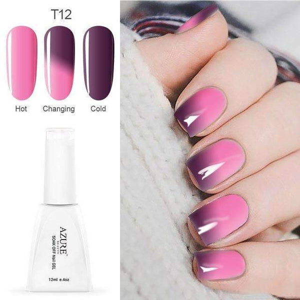 PinKart-USA Online Shopping T12 12Ml Temperature Chameleon Nail Gel Polish Thermal Color Change Uv Gel Nail Soak Off Gel