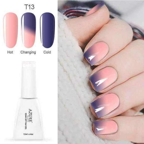 PinKart-USA Online Shopping T13 12Ml Temperature Chameleon Nail Gel Polish Thermal Color Change Uv Gel Nail Soak Off Gel