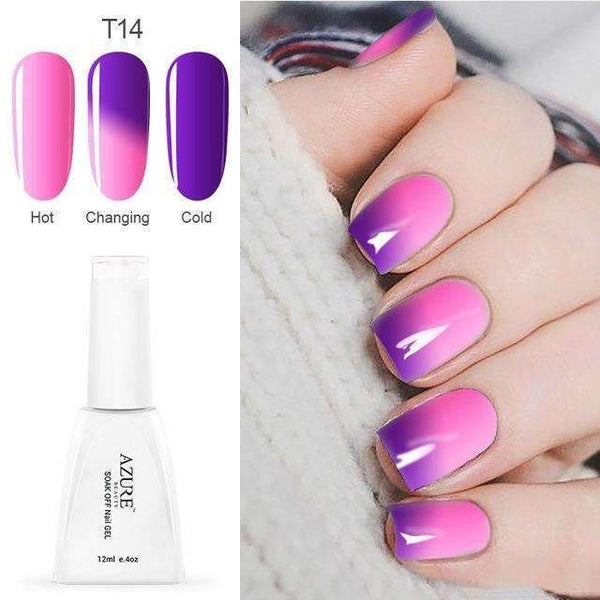 PinKart-USA Online Shopping T14 12Ml Temperature Chameleon Nail Gel Polish Thermal Color Change Uv Gel Nail Soak Off Gel