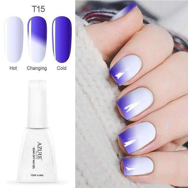 PinKart-USA Online Shopping T15 12Ml Temperature Chameleon Nail Gel Polish Thermal Color Change Uv Gel Nail Soak Off Gel