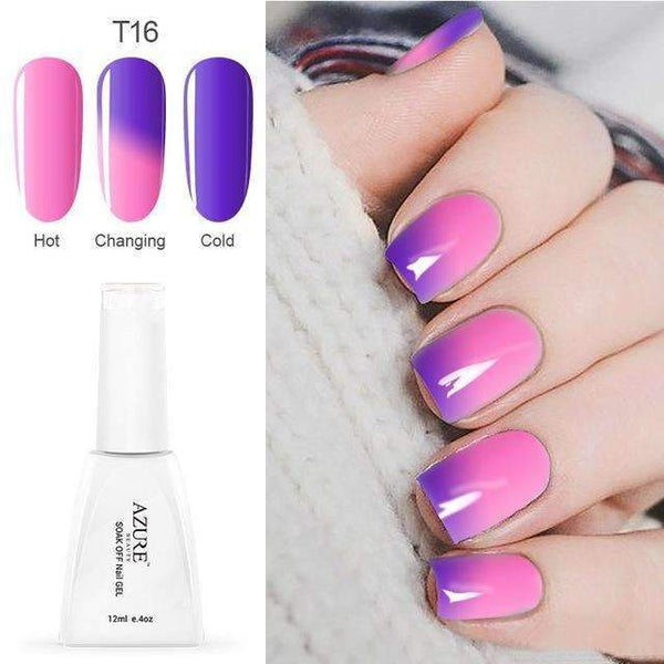 PinKart-USA Online Shopping T16 12Ml Temperature Chameleon Nail Gel Polish Thermal Color Change Uv Gel Nail Soak Off Gel