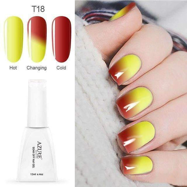 PinKart-USA Online Shopping T18 12Ml Temperature Chameleon Nail Gel Polish Thermal Color Change Uv Gel Nail Soak Off Gel
