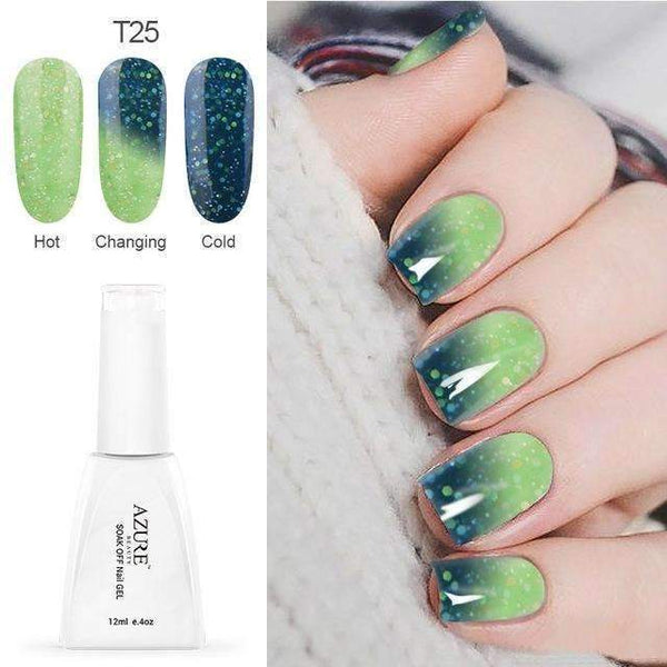 PinKart-USA Online Shopping T25 12Ml Temperature Chameleon Nail Gel Polish Thermal Color Change Uv Gel Nail Soak Off Gel