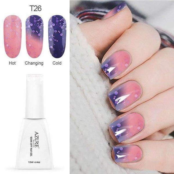 PinKart-USA Online Shopping T26 12Ml Temperature Chameleon Nail Gel Polish Thermal Color Change Uv Gel Nail Soak Off Gel