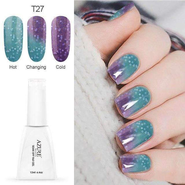 PinKart-USA Online Shopping T27 12Ml Temperature Chameleon Nail Gel Polish Thermal Color Change Uv Gel Nail Soak Off Gel