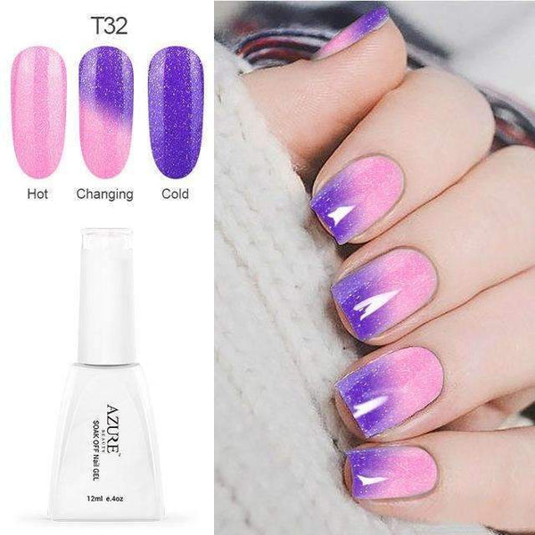 PinKart-USA Online Shopping T32 12Ml Temperature Chameleon Nail Gel Polish Thermal Color Change Uv Gel Nail Soak Off Gel