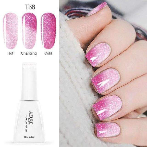 PinKart-USA Online Shopping T38 12Ml Temperature Chameleon Nail Gel Polish Thermal Color Change Uv Gel Nail Soak Off Gel