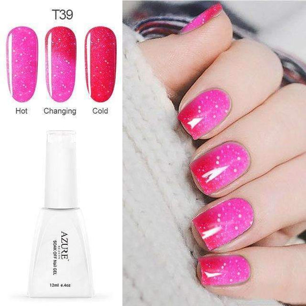 PinKart-USA Online Shopping T39 12Ml Temperature Chameleon Nail Gel Polish Thermal Color Change Uv Gel Nail Soak Off Gel