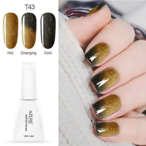 PinKart-USA Online Shopping T43 12Ml Temperature Chameleon Nail Gel Polish Thermal Color Change Uv Gel Nail Soak Off Gel