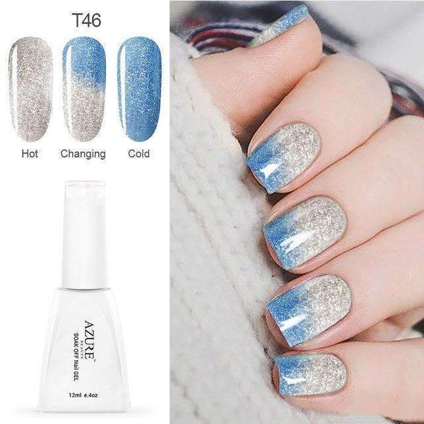PinKart-USA Online Shopping T46 12Ml Temperature Chameleon Nail Gel Polish Thermal Color Change Uv Gel Nail Soak Off Gel