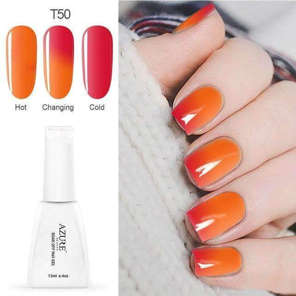 PinKart-USA Online Shopping T50 12Ml Temperature Chameleon Nail Gel Polish Thermal Color Change Uv Gel Nail Soak Off Gel