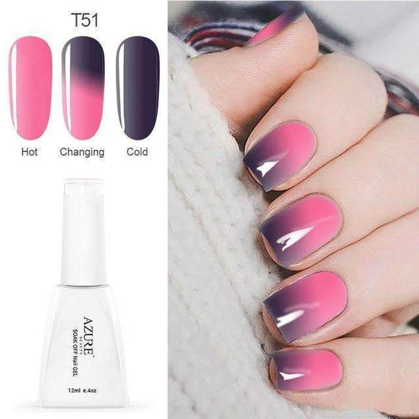 PinKart-USA Online Shopping T51 12Ml Temperature Chameleon Nail Gel Polish Thermal Color Change Uv Gel Nail Soak Off Gel