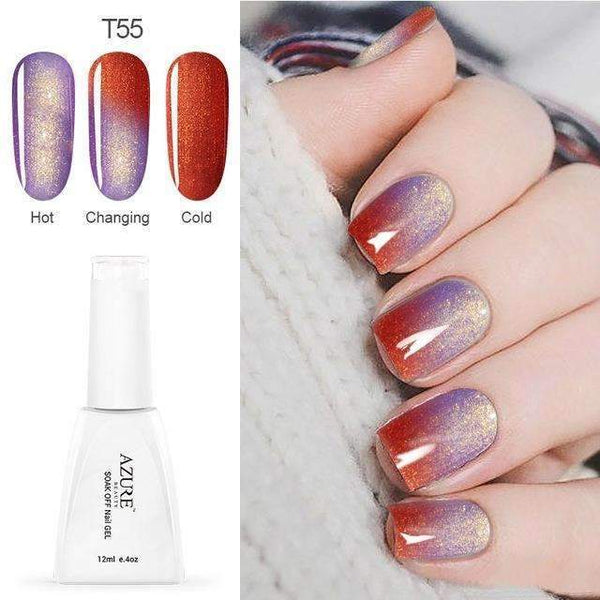 PinKart-USA Online Shopping T55 12Ml Temperature Chameleon Nail Gel Polish Thermal Color Change Uv Gel Nail Soak Off Gel