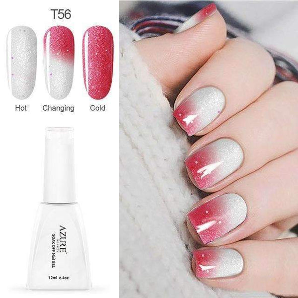 PinKart-USA Online Shopping T56 12Ml Temperature Chameleon Nail Gel Polish Thermal Color Change Uv Gel Nail Soak Off Gel