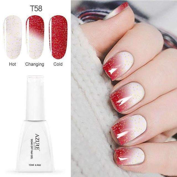 PinKart-USA Online Shopping T58 12Ml Temperature Chameleon Nail Gel Polish Thermal Color Change Uv Gel Nail Soak Off Gel