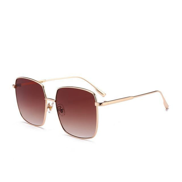 PINkart-USA Online Shopping Tea Brand Designer Celebrity Metal Men Oversized Sunglasses Fashion Luxury Square Sunglasses Women