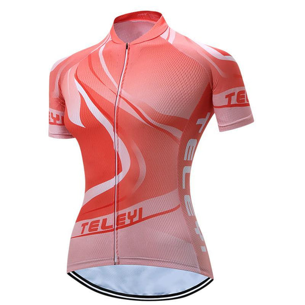 PINkart-USA Online Shopping Teleyi 100% Polyester Summer Breathable Cycling Jersey Short Sleeve Road Bicycle Cycling Clothing