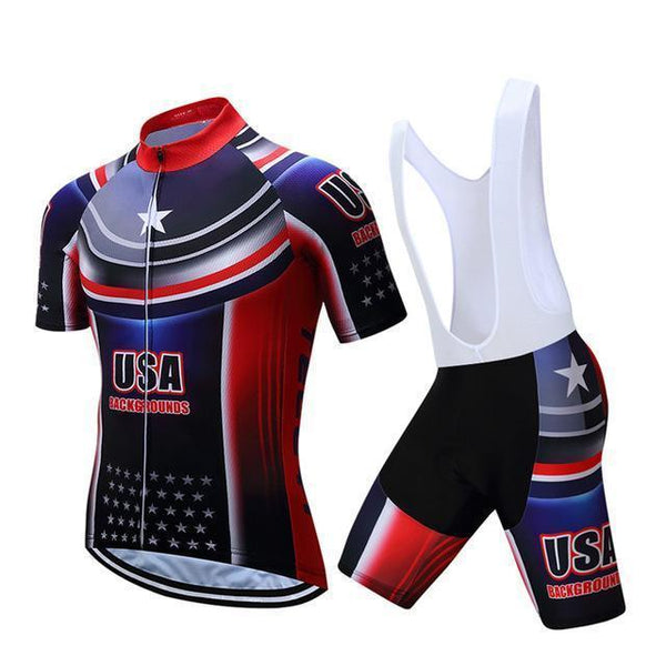 PINkart-USA Online Shopping Teleyi Brand Pro Team Racing Sport Cycling Jersey Sets Men Usa Style Mtb Road Bike Jersey Quick Dry