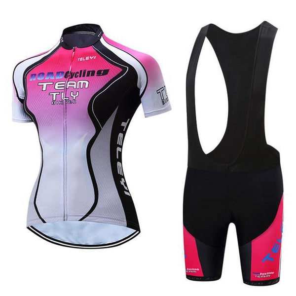PINkart-USA Online Shopping Teleyi Leisure Outdoor Women'S Cycling Jersey Set Sport Bicycle Cycling Clothing Ropa Ciclismo