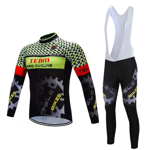 PINkart-USA Online Shopping Teleyi Long Sleeve Cycling Jersey Sets Ropa Ciclismo Mtb Bike Jersey Cycling Clothing Maillot