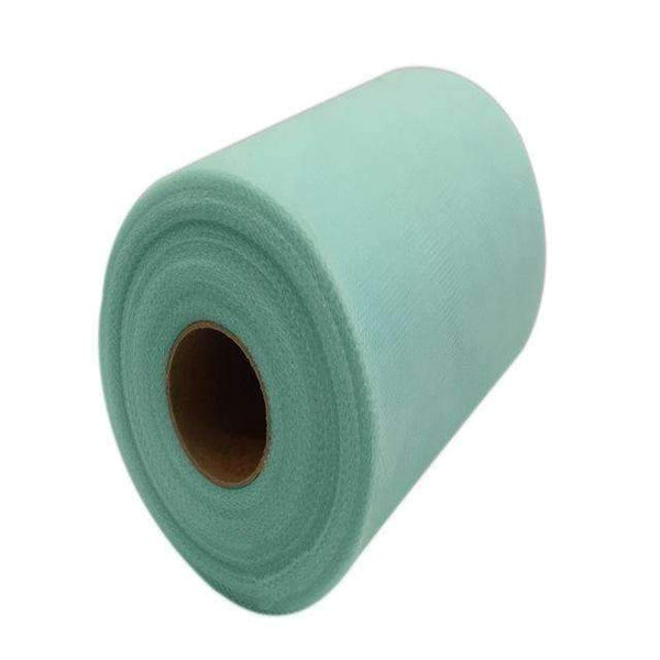 PinKart-USA Online Shopping TIFFANY WATERGREEN 60 Color Pick Wedding Tulle Roll Spool Fabric 6Inch*100Yards Baby Grils Skirt Tutu Tulle Roll Gift