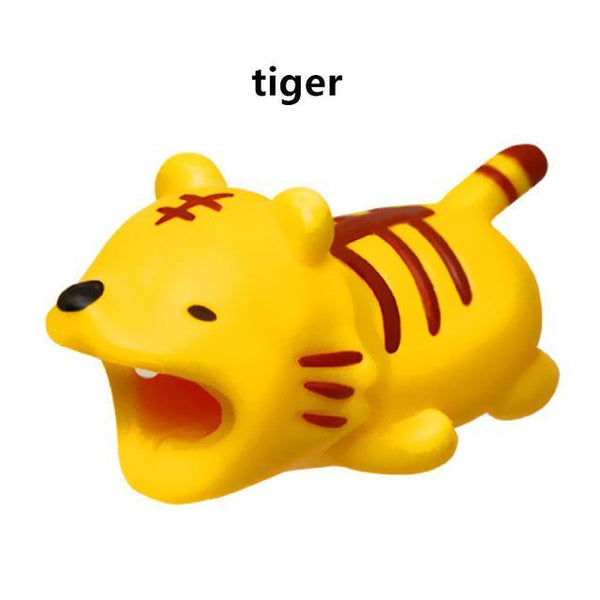PINkart-USA Online Shopping tiger Cute Animal Doll Cable Bite Protector For Iphone Usb Cable Organizer Winder Chompers Chager Wire Holder For Iphone Cable