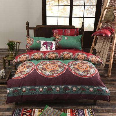 PINkart-USA Online Shopping tingfeng / Full Folk-Custom Bedding Set Polyester Soft Bedclothes Print Product Set Full / Queen / King Size With