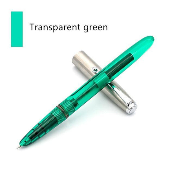 PINkart-USA Online Shopping Transparent green Vintage Artistic Quality Fountain Pen Steel Metal Cap 0.38Mm Extra Fine Pens Jinhao 51A Stationery