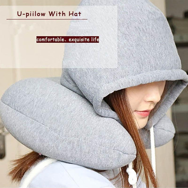 PINkart-USA Online Shopping Travel Pillow Multi-Functional Hooded U-Shaped Pillow Neck Pillow Nostalgic Lazy Pillow For