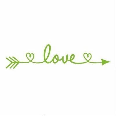 PINkart-USA Online Shopping tree green / 30x130cm Design Love Arrow Removable Vinyl Wall Stickers Wall Art Decal Kids' Room Wallpaper Above Bed Mural