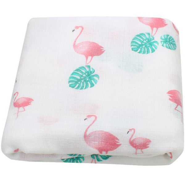 PINkart-USA Online Shopping Turtle Leaf Flamingo Super Soft Blanket For Children Cotton Bamboo Muslin Swaddle For Newborns Baby Wrap Breathable Car