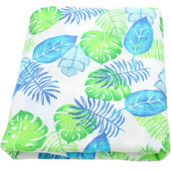 PINkart-USA Online Shopping Turtle Leaf Super Soft Blanket For Children Cotton Bamboo Muslin Swaddle For Newborns Baby Wrap Breathable Car