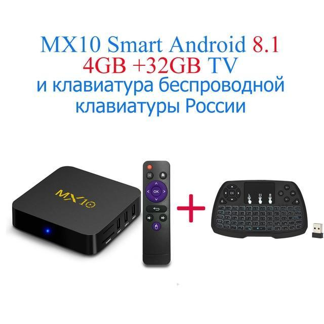 Mx10 Android Tv Box Rk3328 4K Tv Box Android 8 1 Usb3 0 4Gb 32Gb 64Gb  Miracast Airplay Wifi Hd