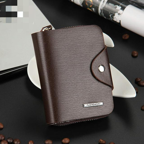 PINkart-USA Online Shopping Vertical Coffee Est Coin Purse Men Wallets Portable Handy Bag Men'S Purse Small Mini Wallet High Quality Pu