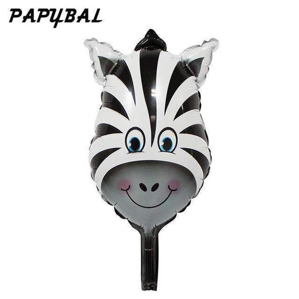 PinKart-USA Online Shopping Violet / Mnini Size 50Pcs Safari Animal Balloons Birthday Party Decoration Lion & Monkey & Zebra & Cow Head Safari Zoo