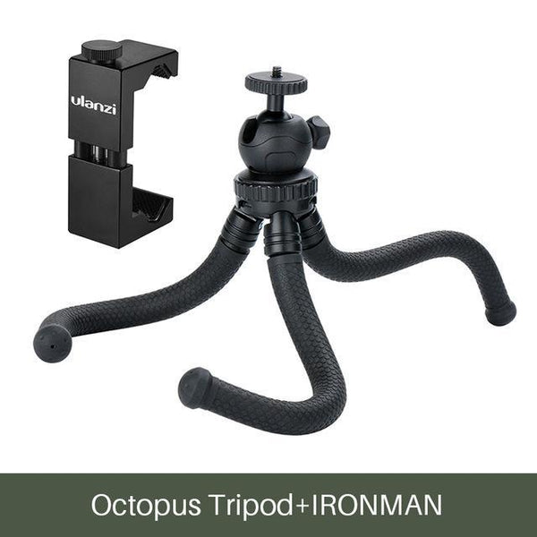 PINkart-USA Online Shopping w Metal Mount Ulanzi Mini Octopus Tripod Flexible Phone Tripod With Detachable Ballhead Phone Clip For Iphone