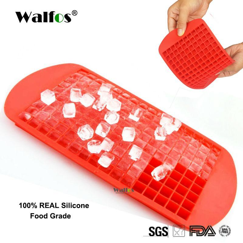 Walfos Food Grade Silicone 160 Small Ice Maker Tiny Ice Cube Trays Chocolate Mold Mould Maker For