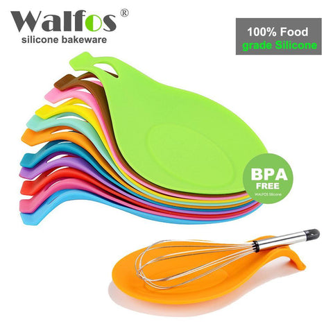 PinKart-USA Online Shopping WALFOS red Walfos Food Grade Silicone Spoon Rest Utensil Spatula Holder Heat Resistant Kitchen Tool