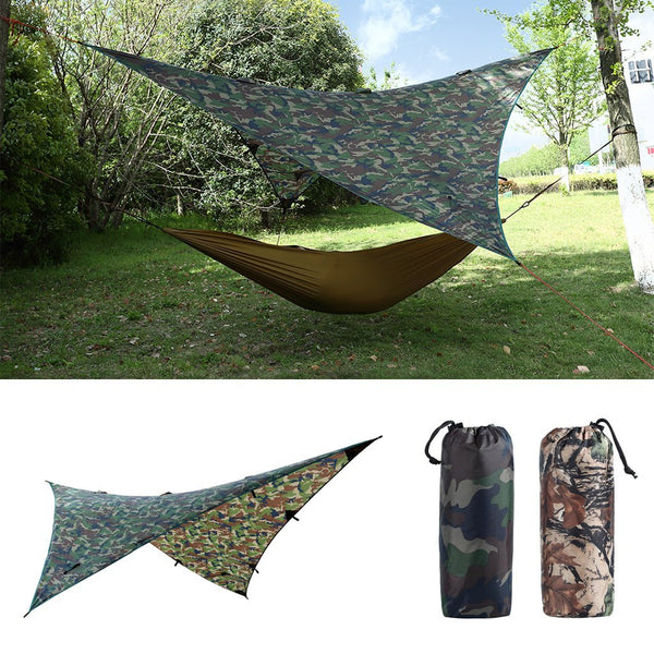 PINkart-USA Online Shopping Waterproof Camping Awning Tarp Trail Tent Sun Shade Hammock Shelter Camo For Outdoor Camping Travel