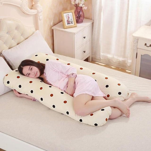 PINkart-USA Online Shopping wave point Pregnancy Pillows U Shape Maternity Maternity Belt Body Character Pregnant Pillow Cartoon Pregnant