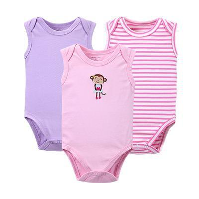 PINkart-USA Online Shopping WH16302 / 3M 3 Pcs/Lot Born Baby Clothes Cotton Baby Bodysuit On Baby Infant Animal Styles Boy Girl Long Sleeve