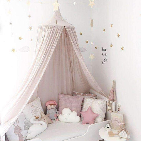 PinKart-USA Online Shopping white / 240cm 240Cm Baby Room Decoration Home Bed Curtain Round Crib Netting Baby Tent Cotton Hung Dome Baby