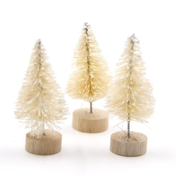 PinKart-USA Online Shopping White / 45mm 15Pcs Diy Christmas Tree 3Colors Small Pine Tree Mini Trees Placed In The Desktop Home Decor
