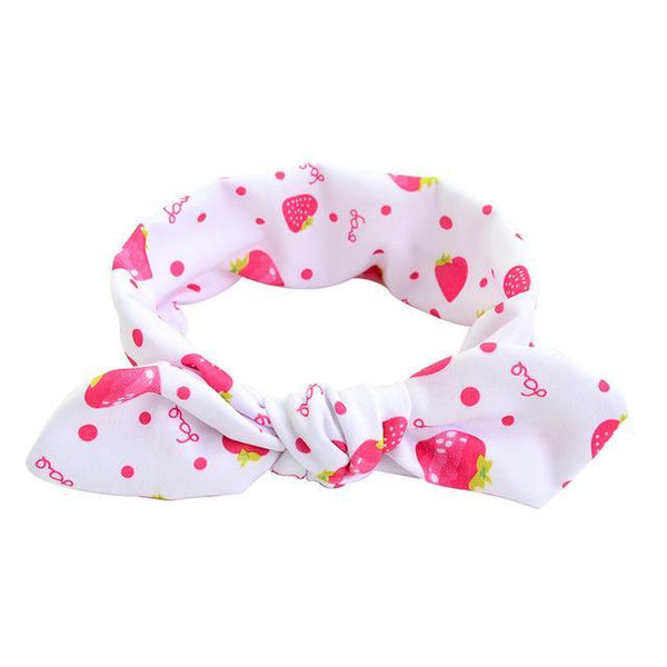 PINkart-USA Online Shopping white Cute Dot Print Baby Headband Turban Rabbit Ears Girl Hairband Bow Knot Hair Bands For Baby Girl