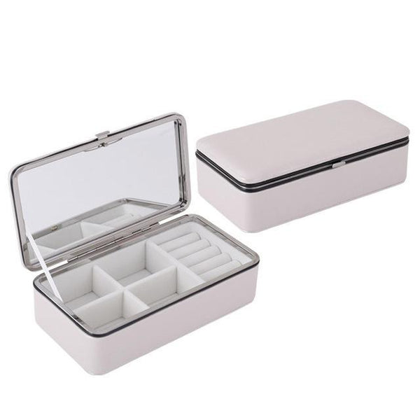 PINkart-USA Online Shopping White Jewelry Packaging Box Casket For Exquisite Makeup Case Cosmetics Beauty Organizer Container