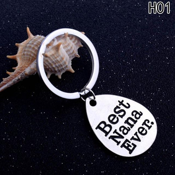 PINkart-USA Online Shopping White Key Chain Daddy Love Best Dad Ever Keychain Jewelry Family Father'S Day Gifts Keyring Charm