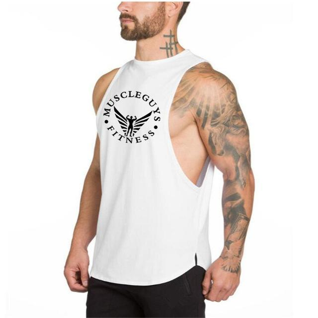 PINkart-USA Online Shopping White / L Brand Clothing Fitness Mens Tank Top Golds Stringer Muscle Guys Bodybuilding Sleeveless Shirt