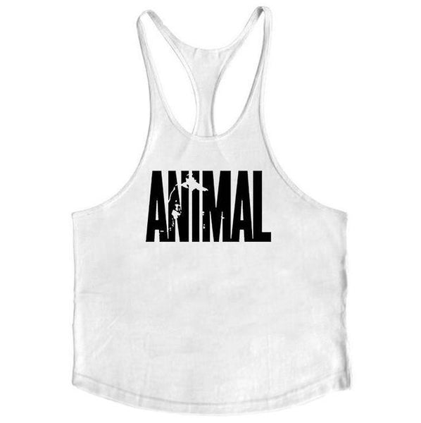PINkart-USA Online Shopping White / L Brand Fitness Animal Gyms Tank Top Men Clothing Bodybuilding Stringer Men Sportwear Shirt Muscle