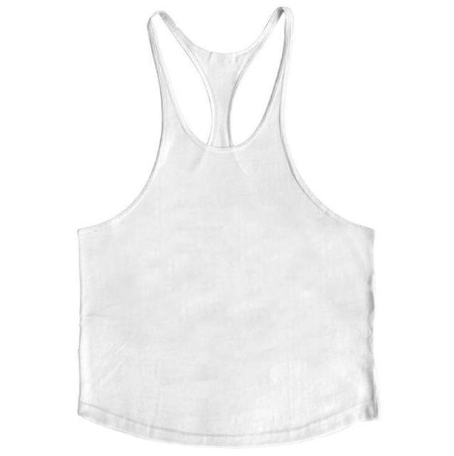 PINkart-USA Online Shopping White / L Brand Solid Clothing Bodybuilding Tank Top Mens Sleeveless Shirts Fitness Men Singlets Blank