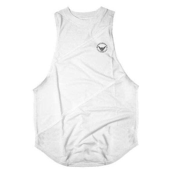 PINkart-USA Online Shopping White / L Muscle Guys Clothing Gyms Tank Tops For Men Low Cut Armholes Vest Sexy Men'S Tank Bodybuilding And